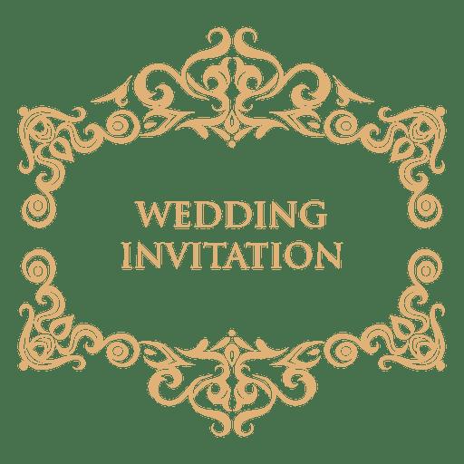 Wedding invitation label 2.