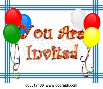 Birthday invitations clipart free.