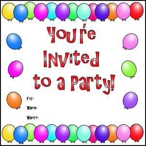 Party Invite Clip Art.