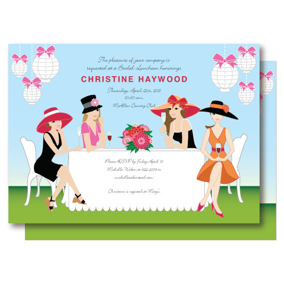 Ladies Lunch Invite Clipart.