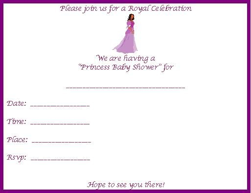 Wedding Shower Invitation Clipart.
