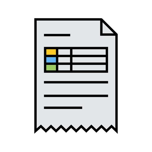 Invoice Line Filled Icon.