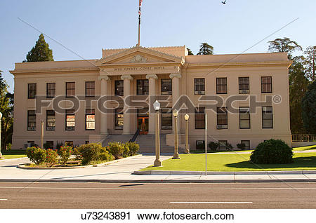 Stock Photography of inyo county courthouse california ca building.