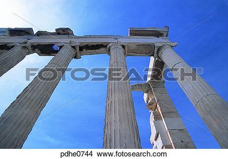 Stock Photo of pillar, Athens, Ionic, Ionian, Ionia, post.