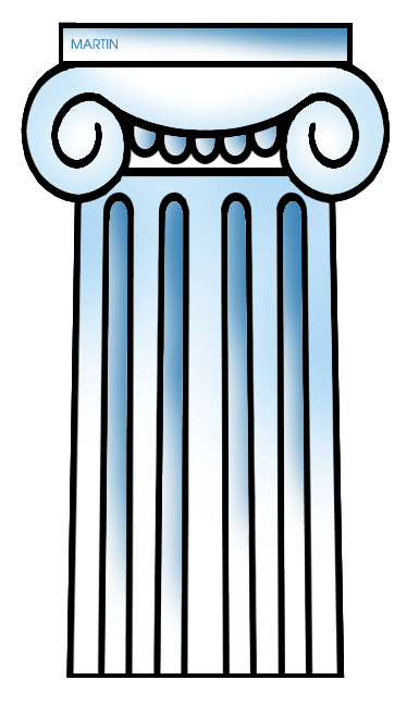 Free Architecture Clip Art by Phillip Martin, Greek Ionic Column.