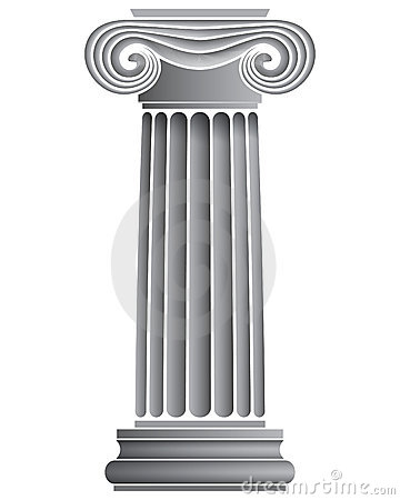 Single Ionic Column Royalty Free Stock Images.