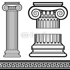 The 3 types of Greek columns used in huge estates..