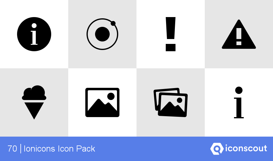 Download Ionicons Icon pack.