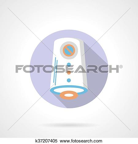 Clipart of Air purification flat color round vector icon k37207405.