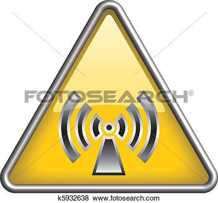 Clip Art of Non ionizing radiation icon, symbol k5932638.