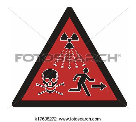 Clip Art of Ionizing Radiation k17638272.