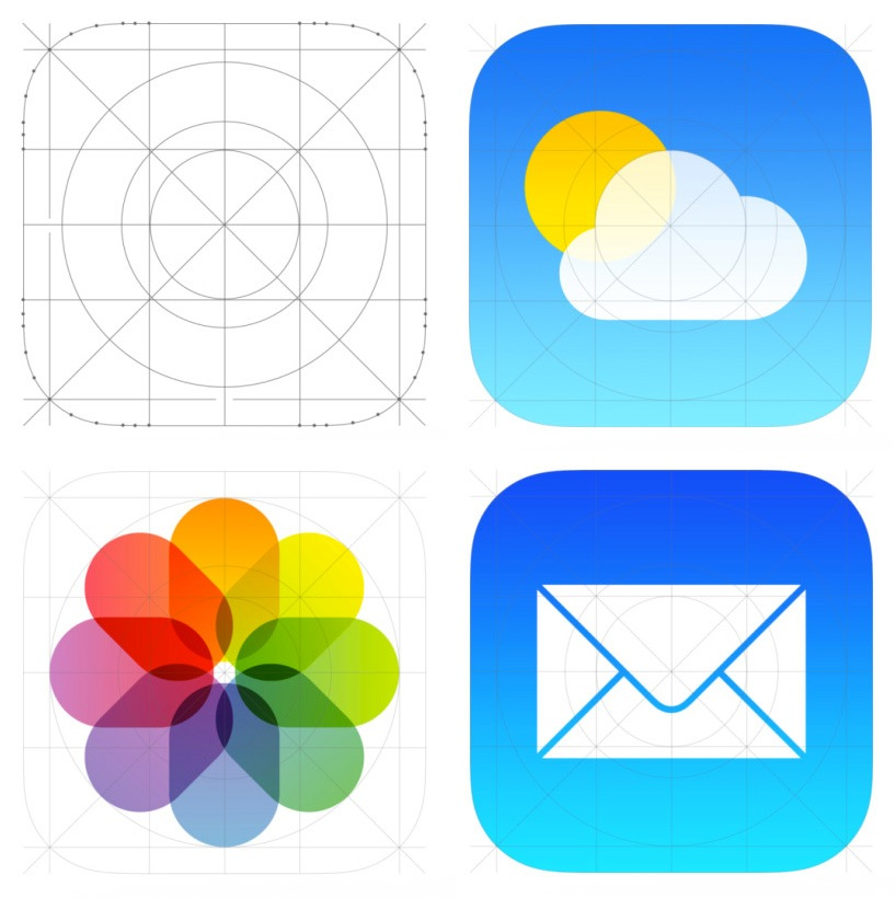 A closer look at the iOS7 icons.