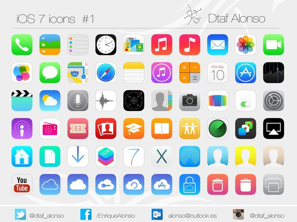 Iphone 5S [ ICON PACK ] iOS 7.