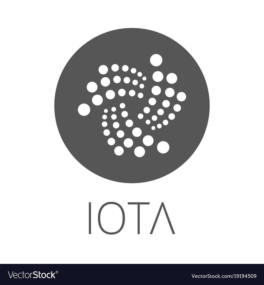 Iota coin symbol logo.
