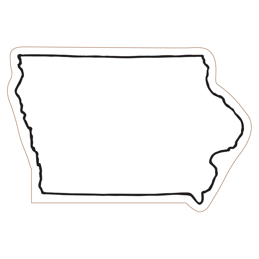 Iowa map clipart.