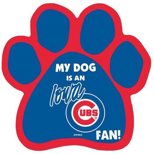 Iowa Cubs Magnet Paw.