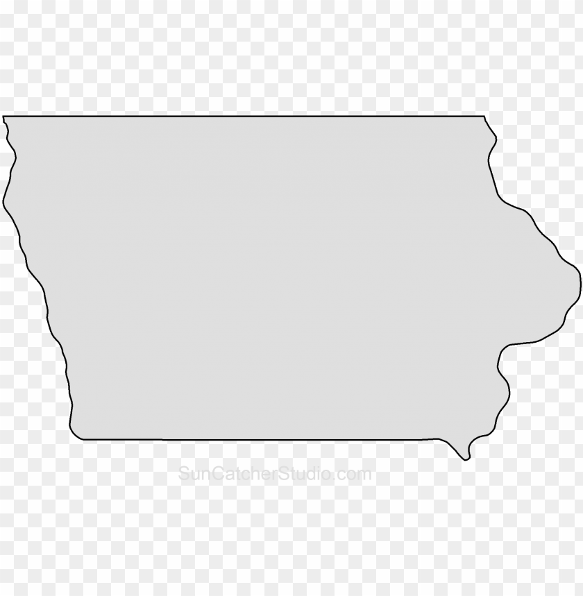 iowa map outline shape state stencil clip art scroll PNG.