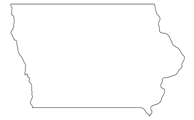 State Of Iowa Clipart.