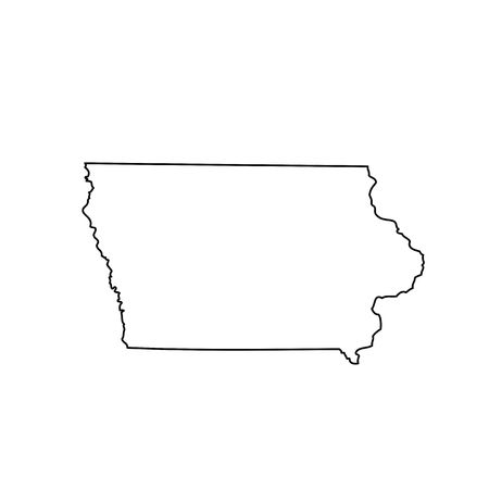 578 Iowa Outline Stock Illustrations, Cliparts And Royalty Free Iowa.