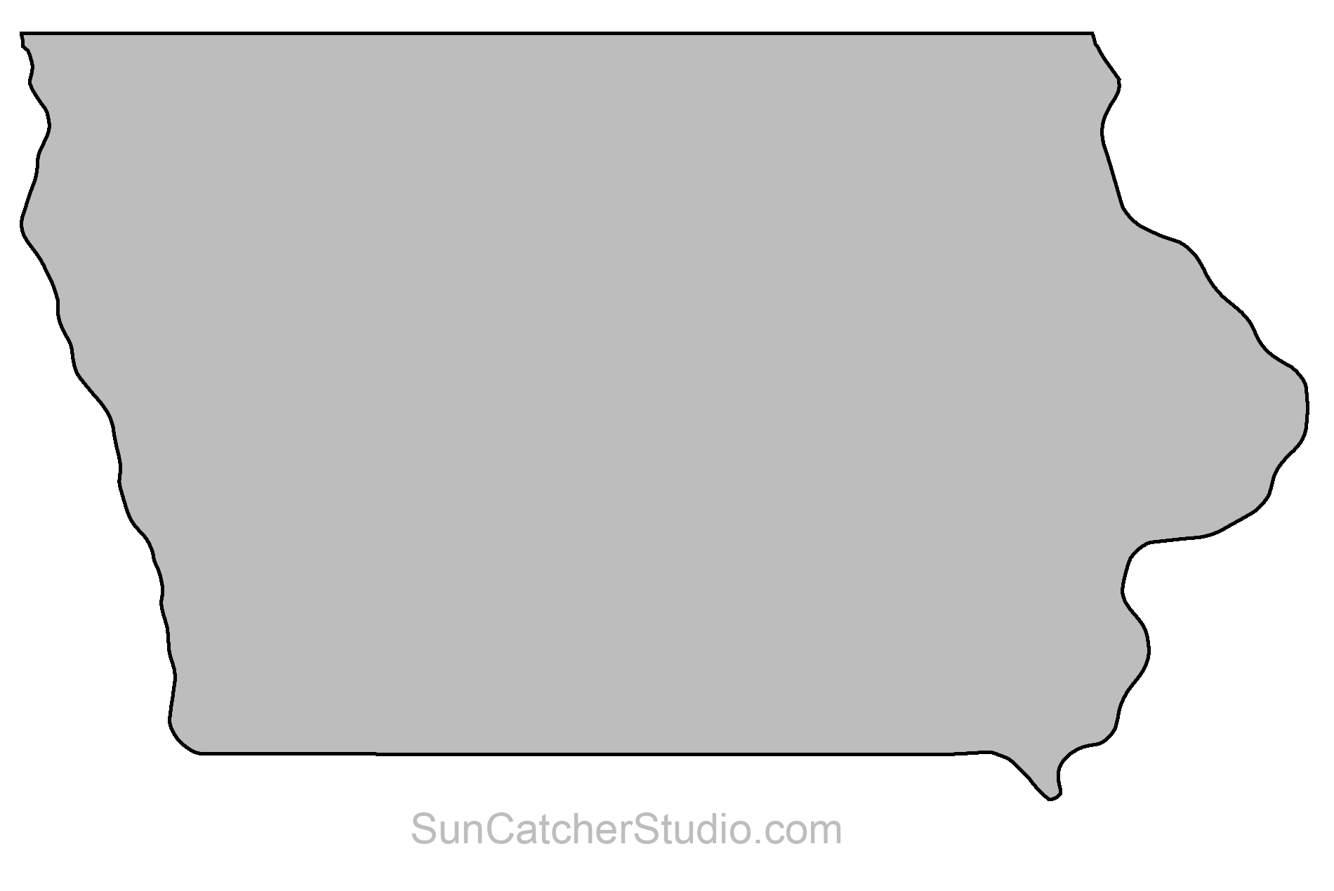 Iowa state map outline clipart images gallery for free download.