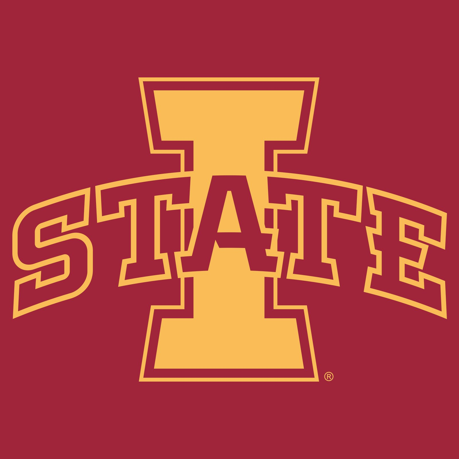 Iowa State University Cyclones Logo Long Sleeve T Shirt.