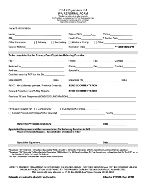 Pipa Physicians Ipa Prior Authorization Form.