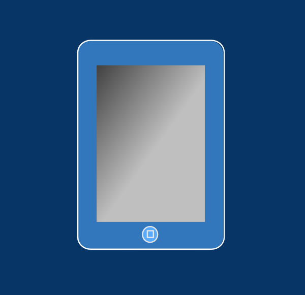 Blue Ipad With Box Clip Art at Clker.com.