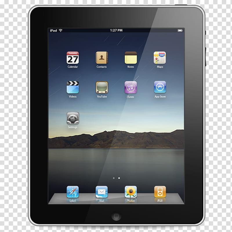 IPad, black iPad transparent background PNG clipart.