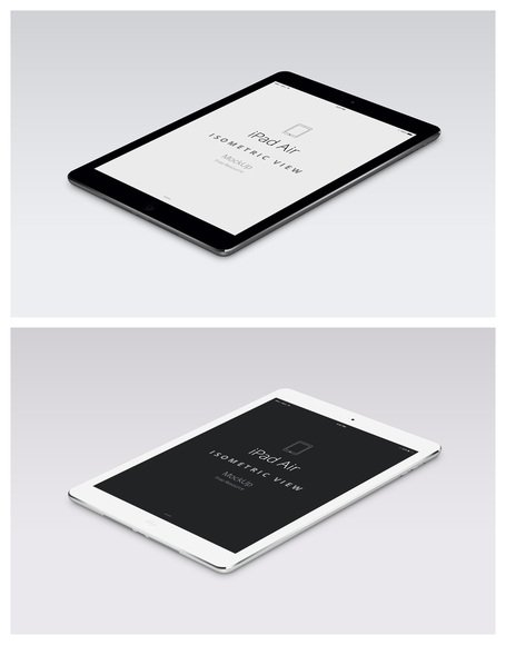 Psd iPad Air Perspective Mockup Clipart Picture.
