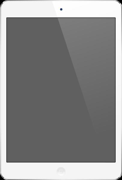 White iPad Air vector data.