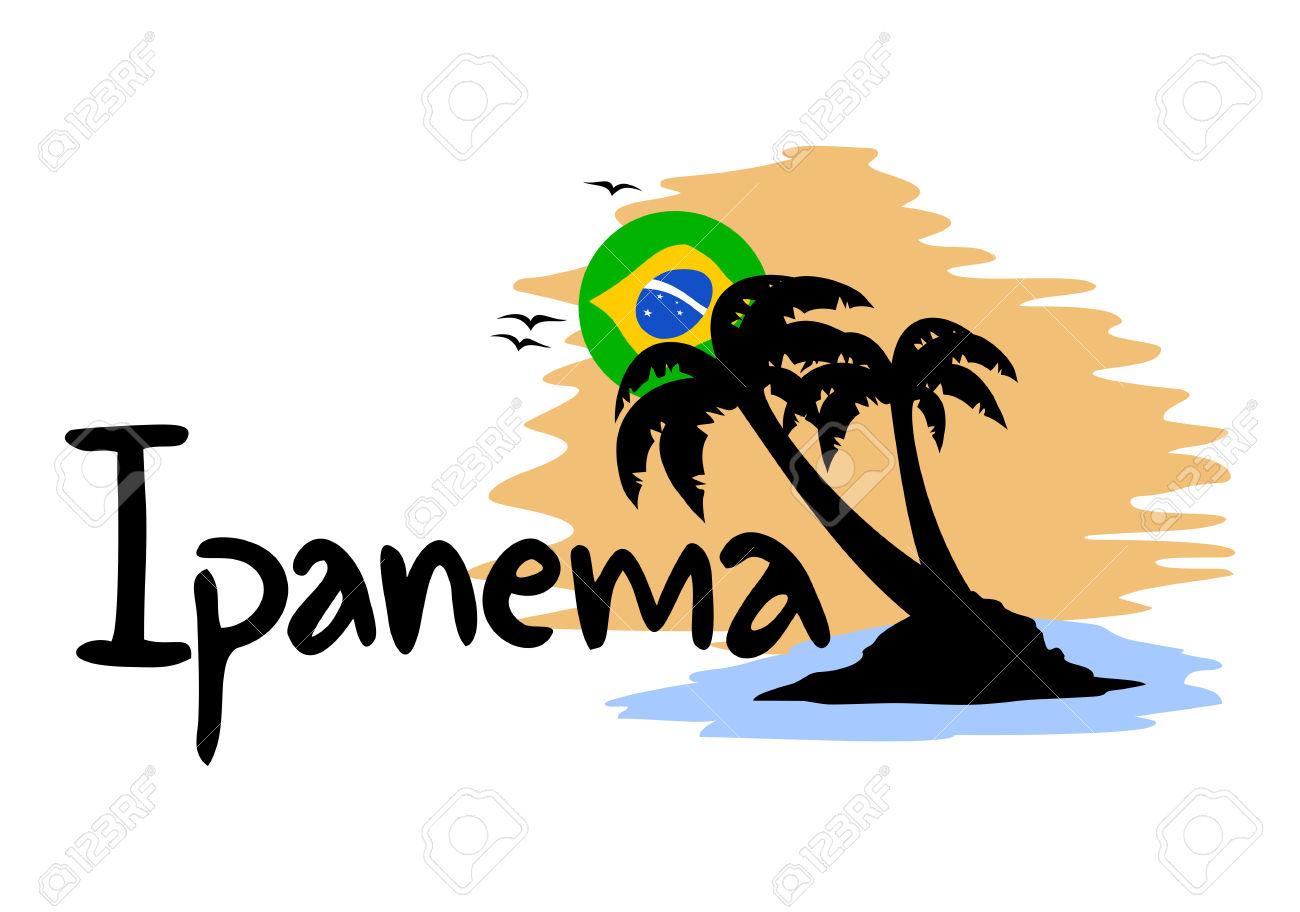 Ipanema Beach Symbol Royalty Free Cliparts, Vectors, And Stock.