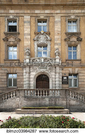 """Picture of """"Entrance portal of the historic building of the."""