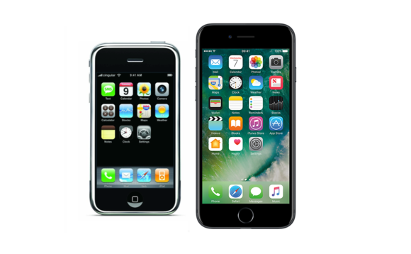 Original iPhone vs iPhone 7.