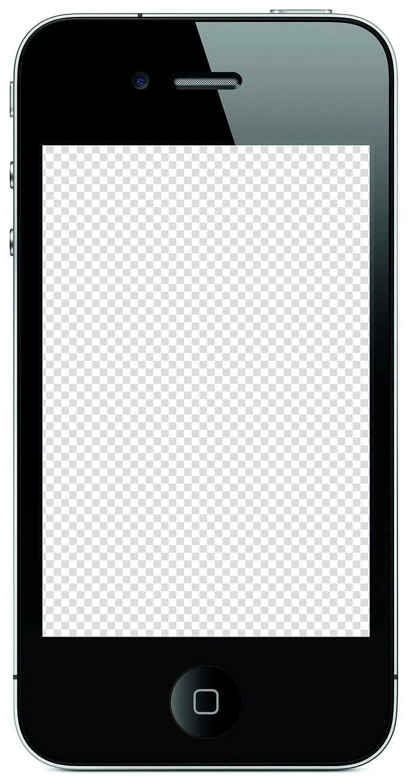 Black iPhone 4, iPhone 4S iPhone 5 Responsive web design Template.