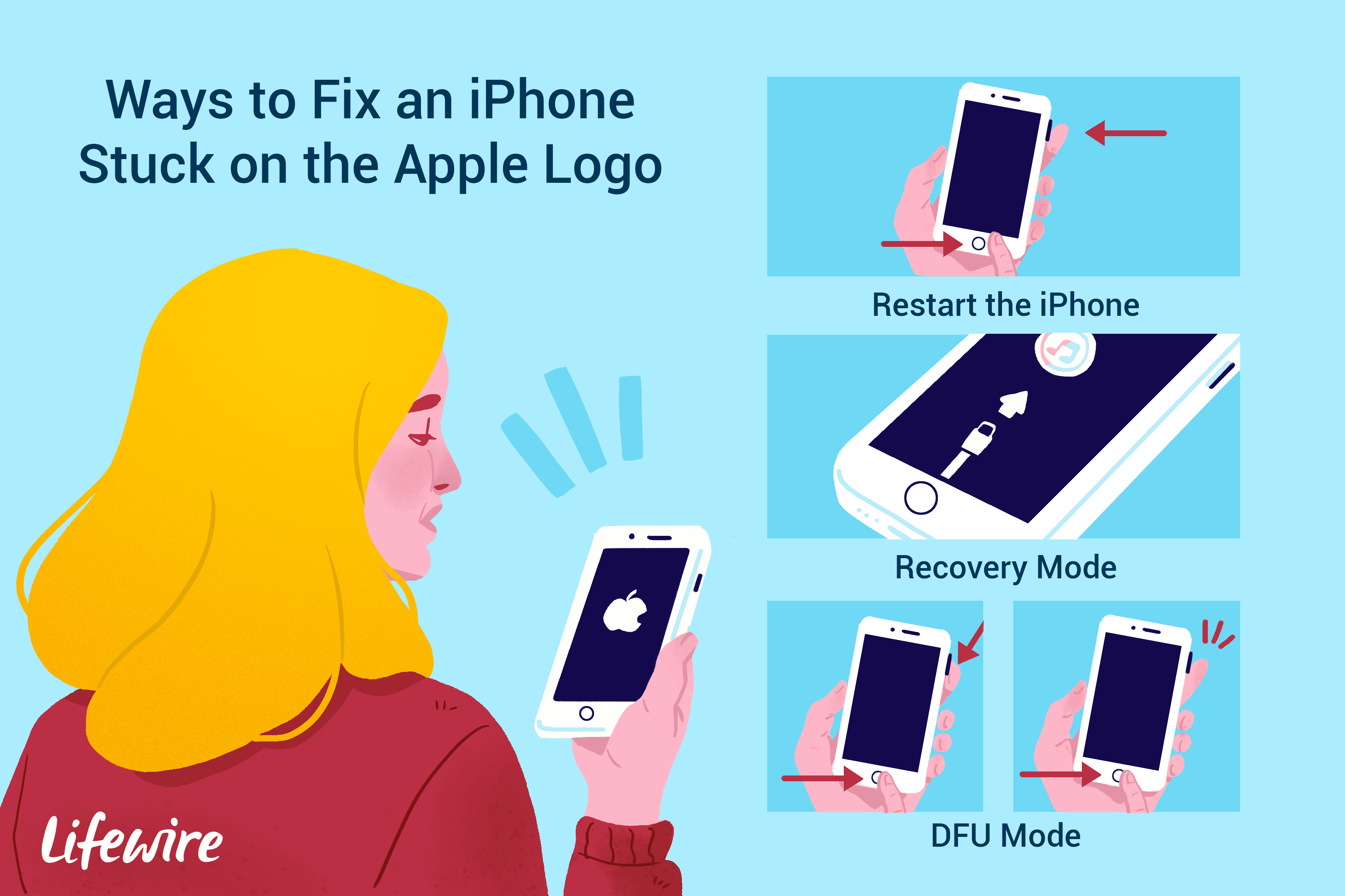 How to Fix an iPhone Stuck on the Apple Logo.