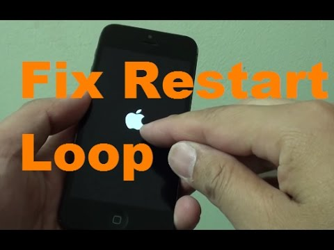 iPhone: Fix Restart Loop With Apple Logo.