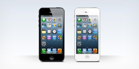 Free iPhone 5 black and white blank templates (PSD)s Clipart.