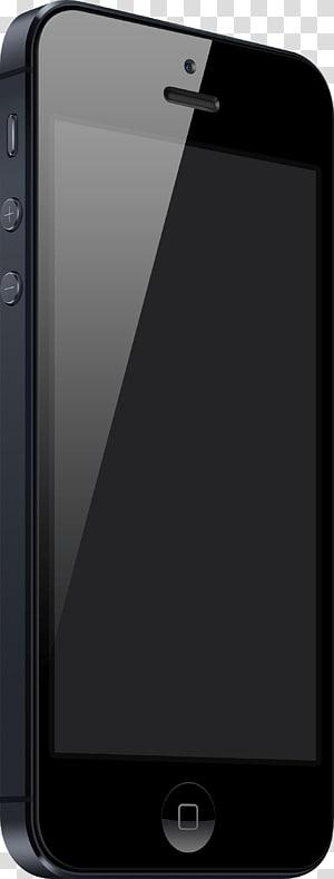 Black iPhone 5 illustration, iPhone 4S iPhone 6 Plus iPhone 5s.