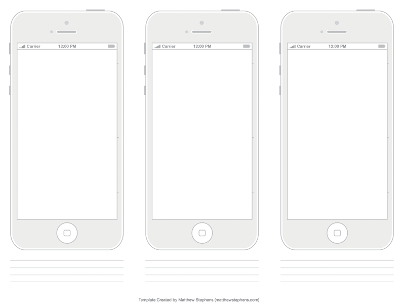 Free Printable iPhone 5, iPhone 5s, and iPhone 5c Templates by.