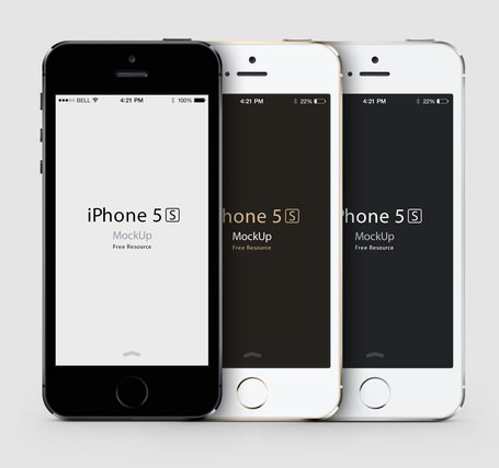 iPhone 5S Psd Vector Mockup Clipart Picture Free Download.