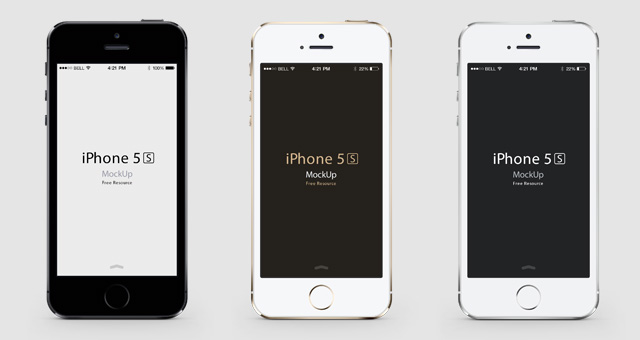 iPhone 5S Psd Vector Mockup.