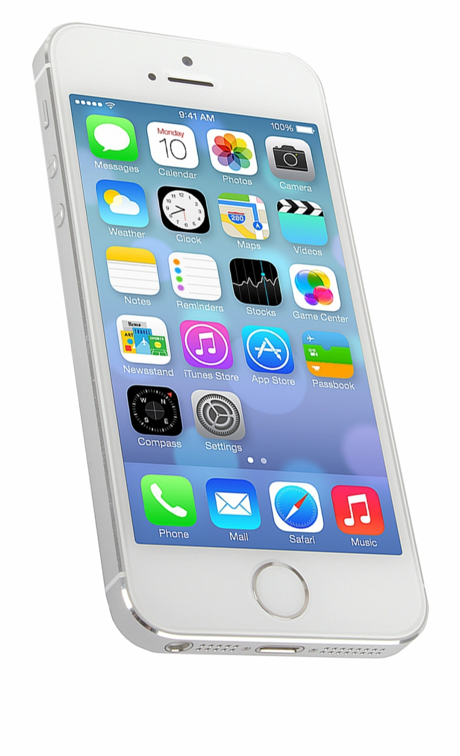 Apple Iphone 5s 32gb Silver With Signs Of Wear.