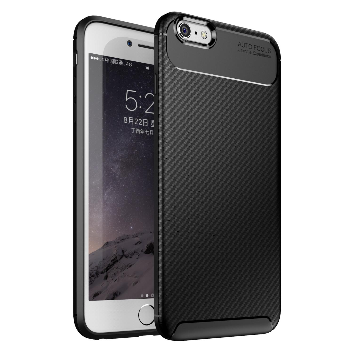 Bakeey Protective Case For iPhone 6/6s Slim Carbon Fiber Fingerprint  Resistant Soft TPU Back Cover.