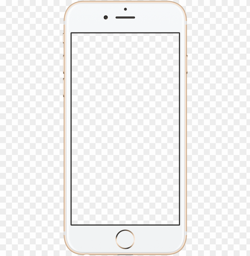 iphone 6 mobile frame PNG image with transparent background.