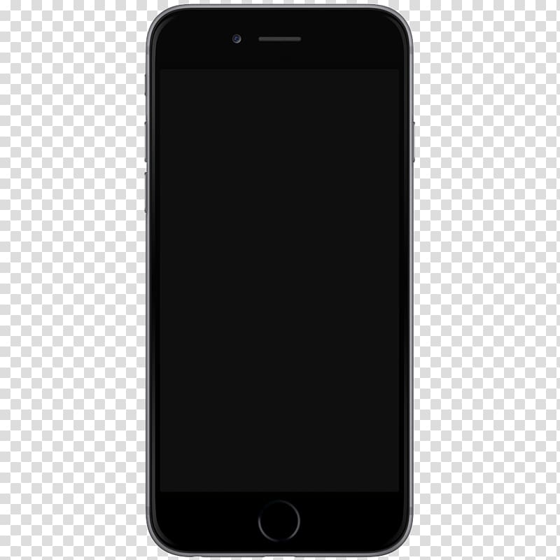 Space gray iPhone 6, Iphone 7 Template transparent background PNG.
