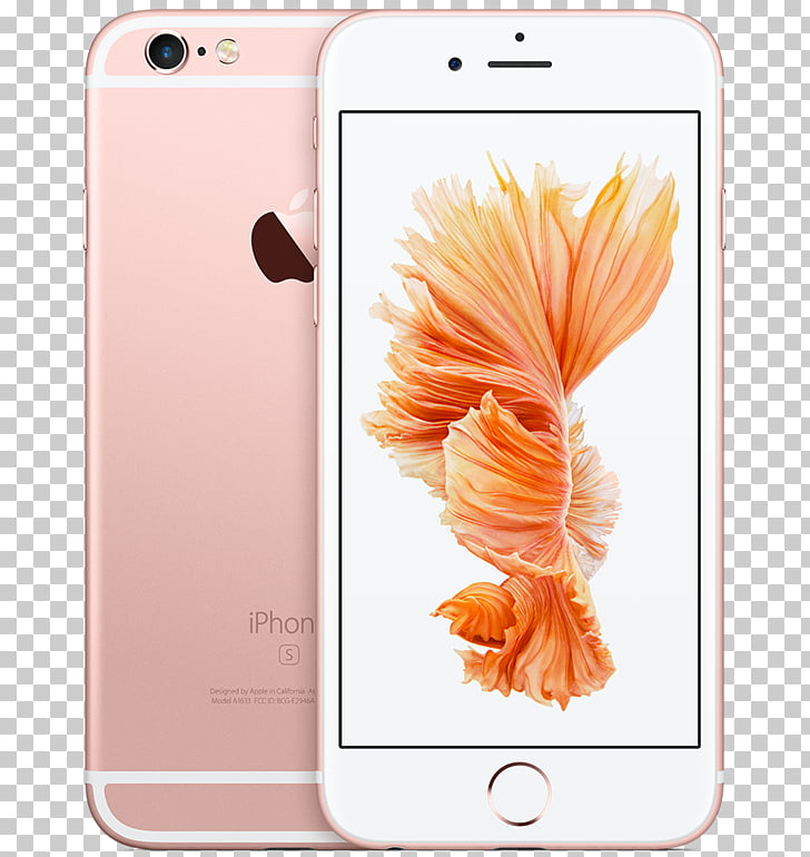 IPhone 6s Plus Telephone Apple LTE, GOLD ROSE PNG clipart.