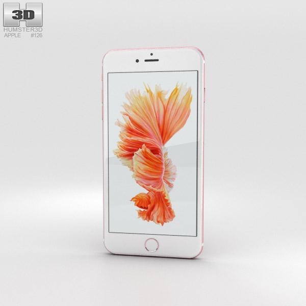 Apple iPhone 6s Plus Rose Gold 3D model.