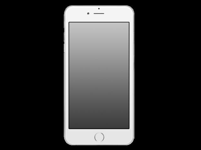 iphone template transparent.