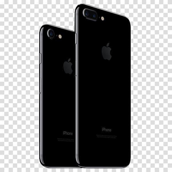 Apple iPhone 7 Plus iPhone 8 jet black, apple transparent.