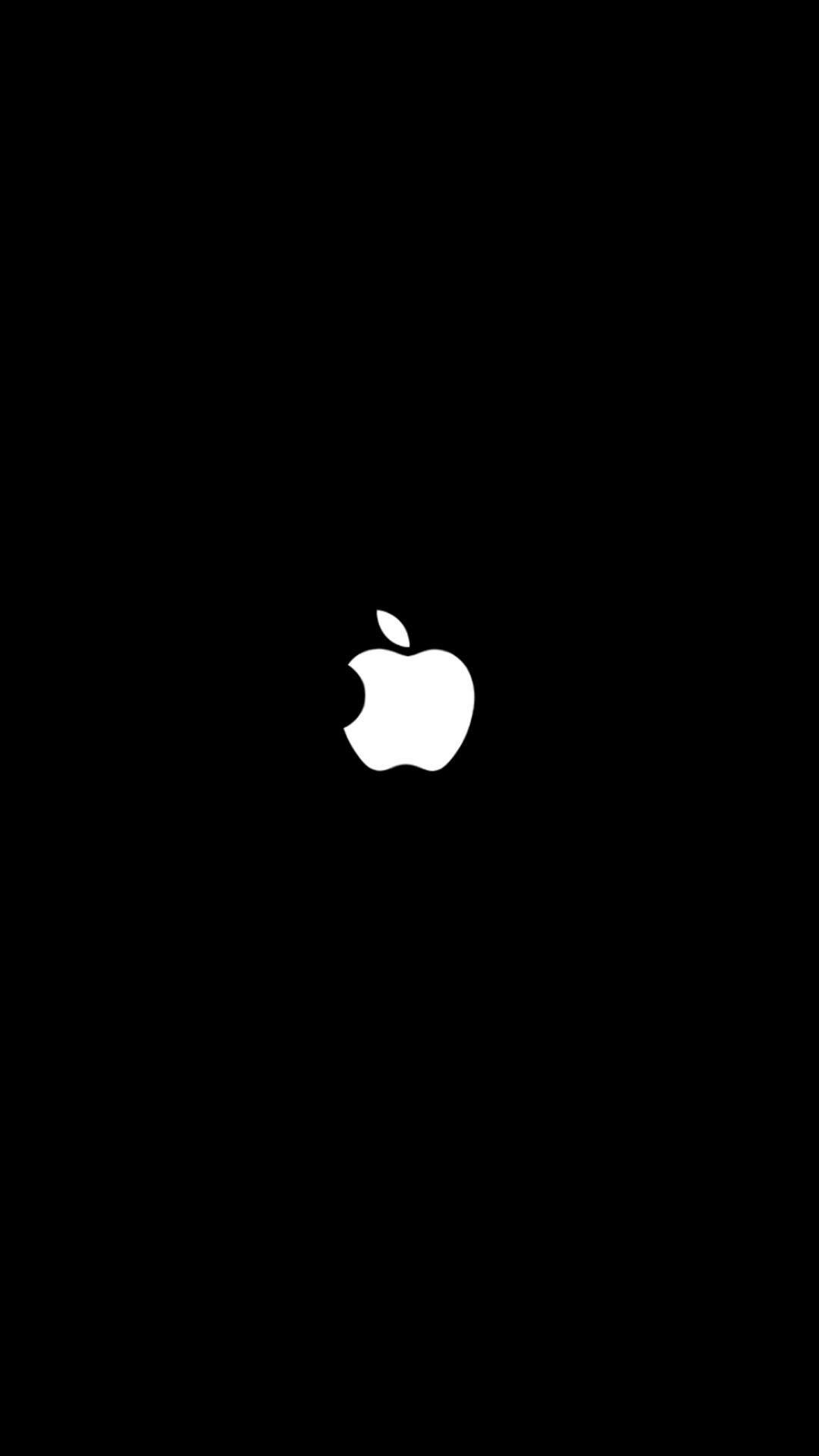Wallpaper Black Apple For iPhone 7.